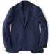 Hudson Navy Wool and Cashmere Flannel Hopsack Jacket Product Thumbnail 1
