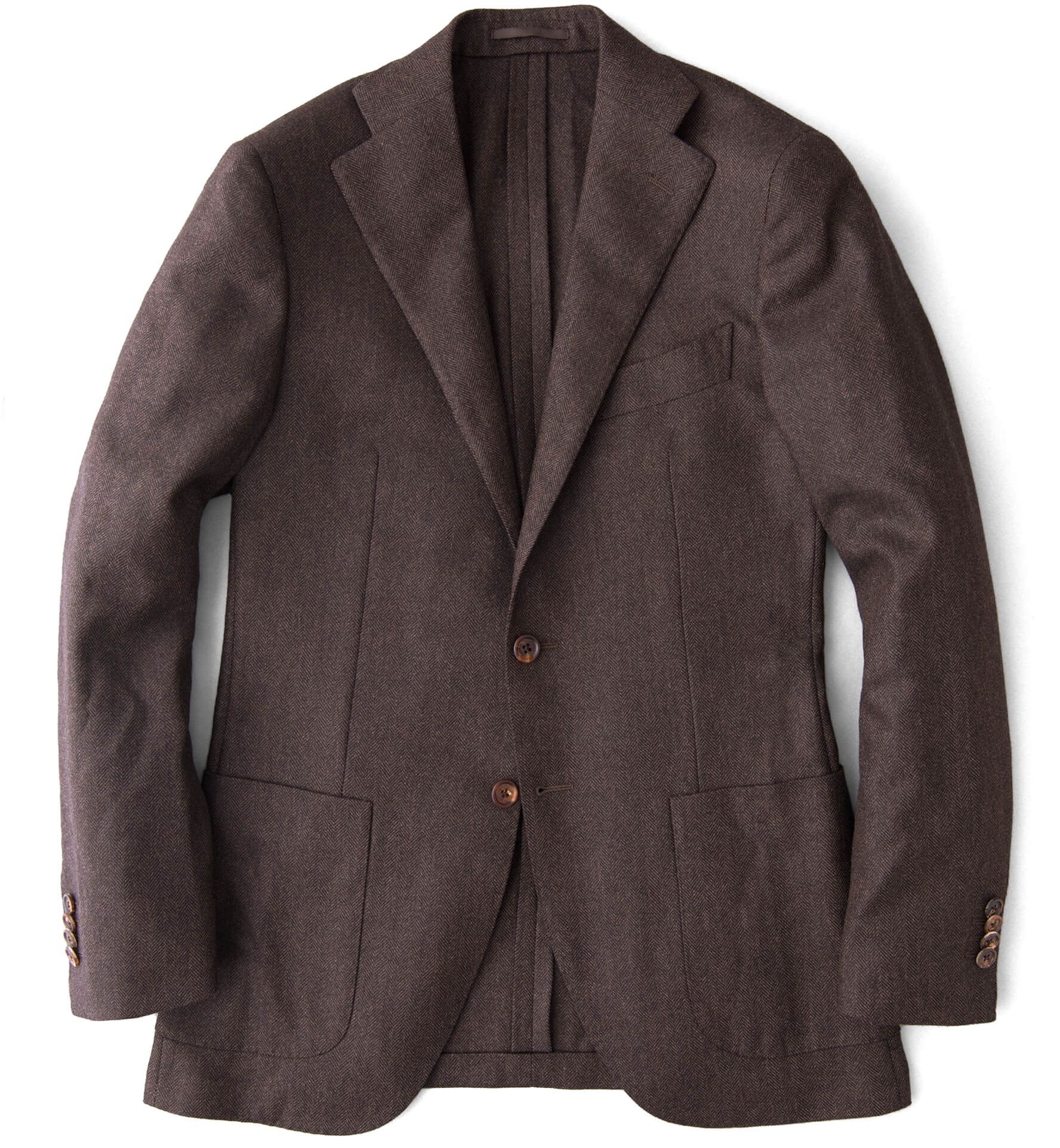 Zoom Image of Hudson Walnut Herringbone Wool and Cashmere Jacket