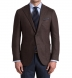 Zoom Thumb Image 1 of Hudson Walnut Herringbone Wool and Cashmere Jacket
