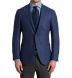 Zoom Thumb Image 1 of Hudson Ocean Blue Wool Flannel Hopsack Jacket