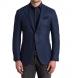 Zoom Thumb Image 1 of Hudson Navy Basketweave Wool Flannel Jacket