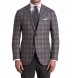 Zoom Thumb Image 1 of Hudson Grey Plaid Wool and Cashmere Flannel Jacket