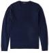 Navy Cobble Stitch Cashmere Crewneck Sweater Product Thumbnail 1