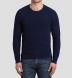 Navy Cobble Stitch Cashmere Crewneck Sweater Product Thumbnail 5