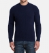 Navy Ribbed Cotton and Cashmere Crewneck Sweater Product Thumbnail 5