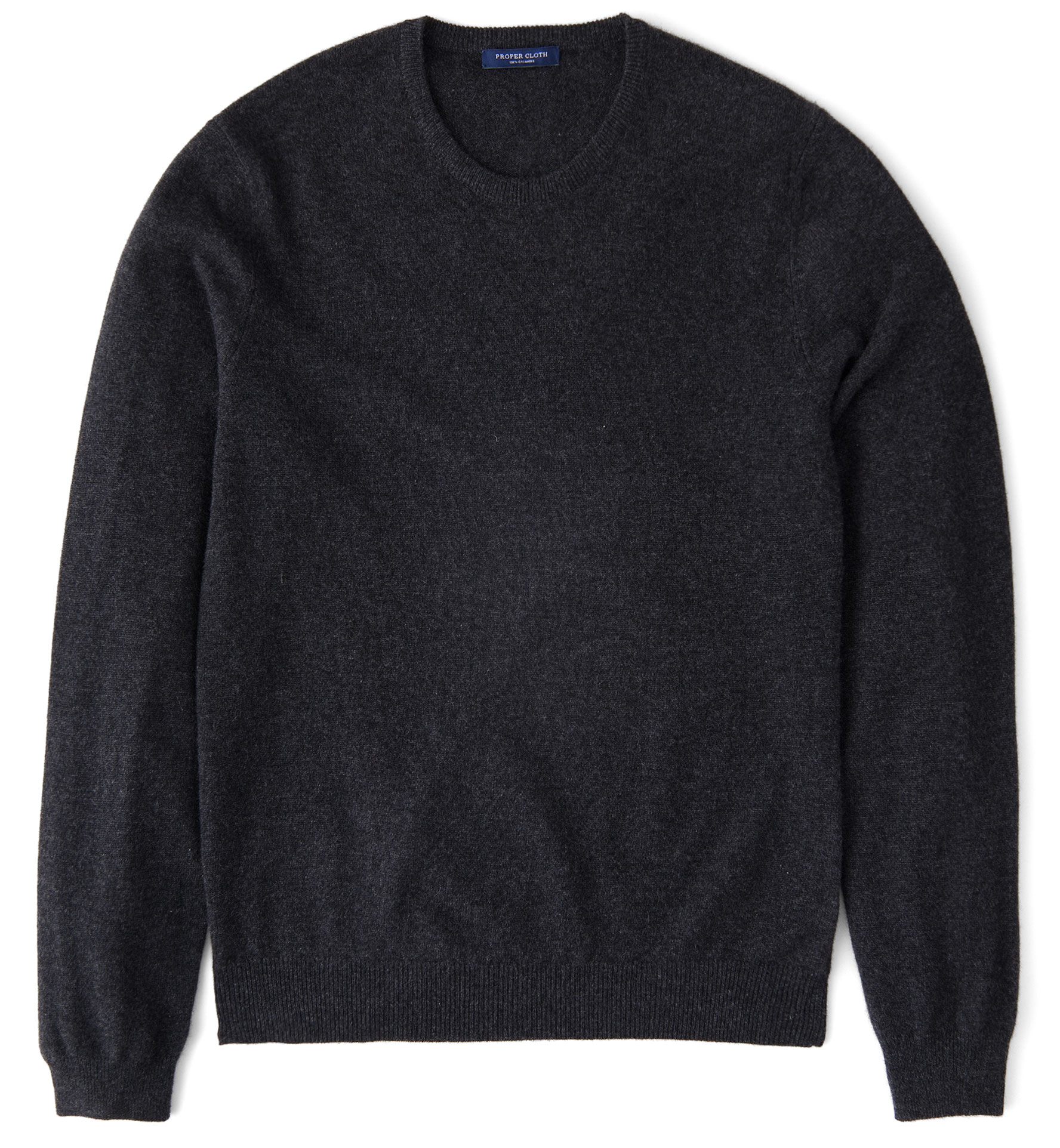 Zoom Image of Charcoal Cashmere Crewneck Sweater