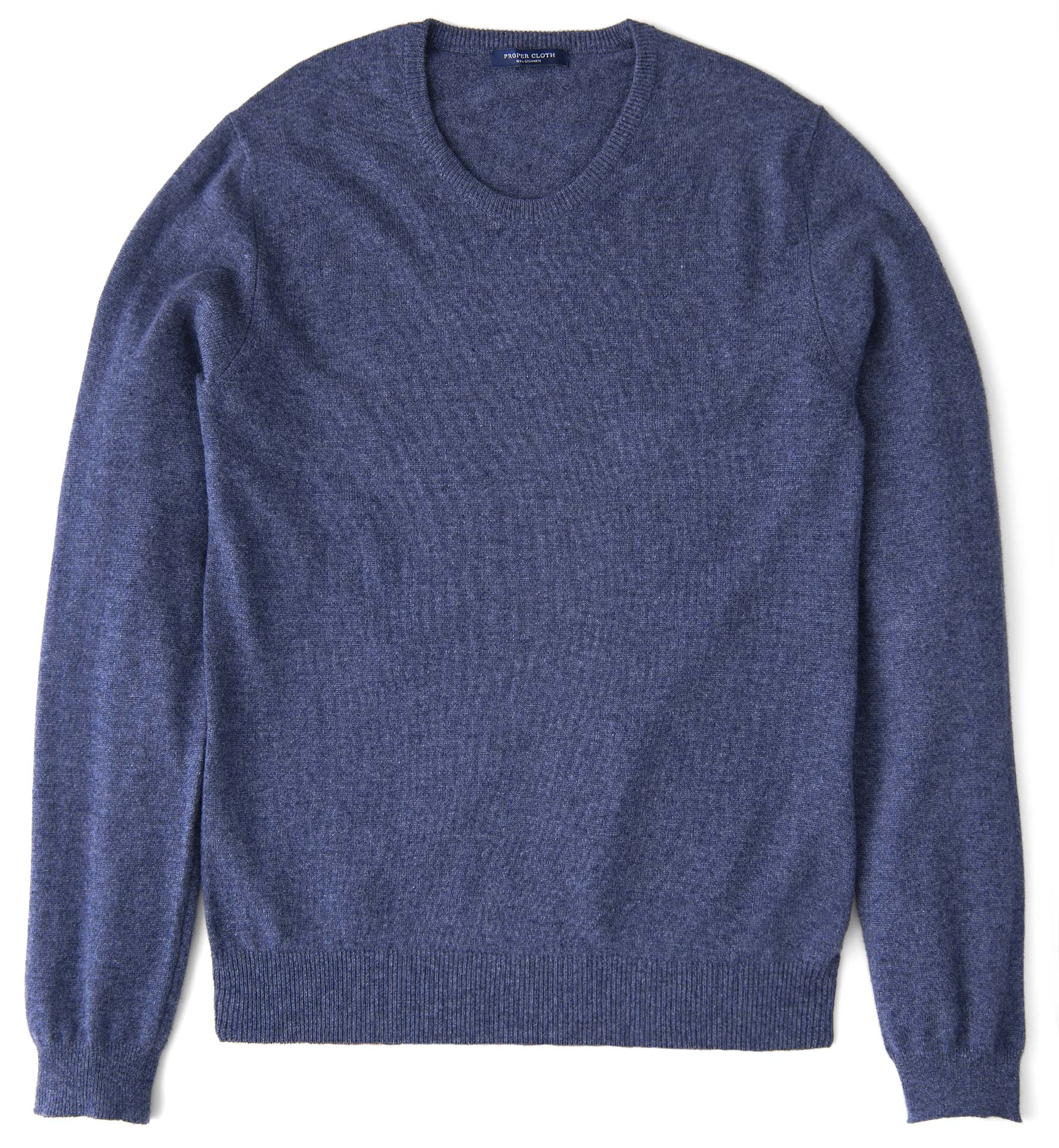 Zoom Image of Slate Blue Cashmere Crewneck Sweater