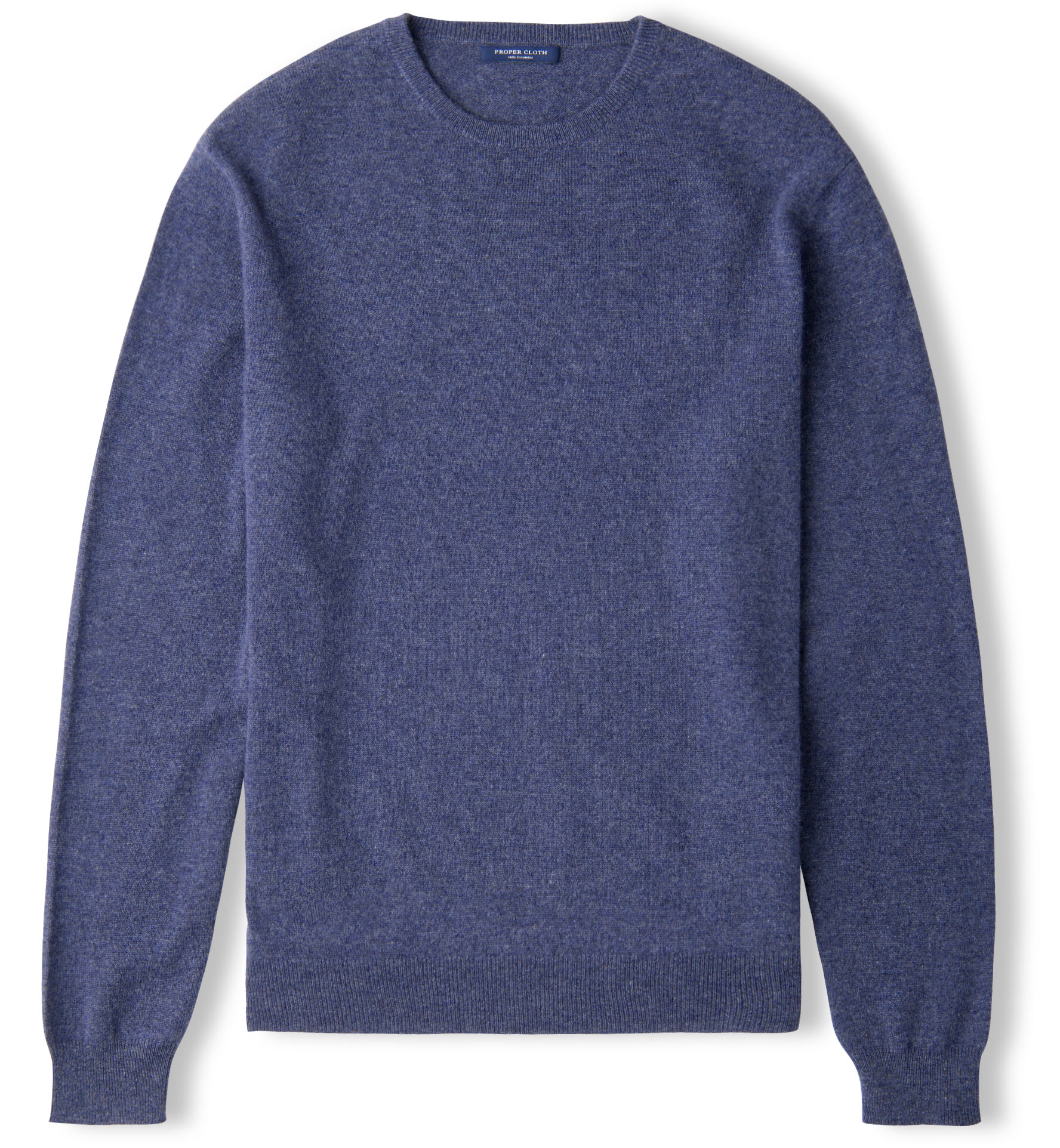 Zoom Image of Slate Blue Cashmere Crewneck Sweater