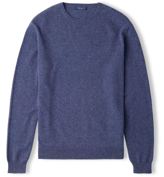 Slate Blue Cashmere Crewneck Sweater