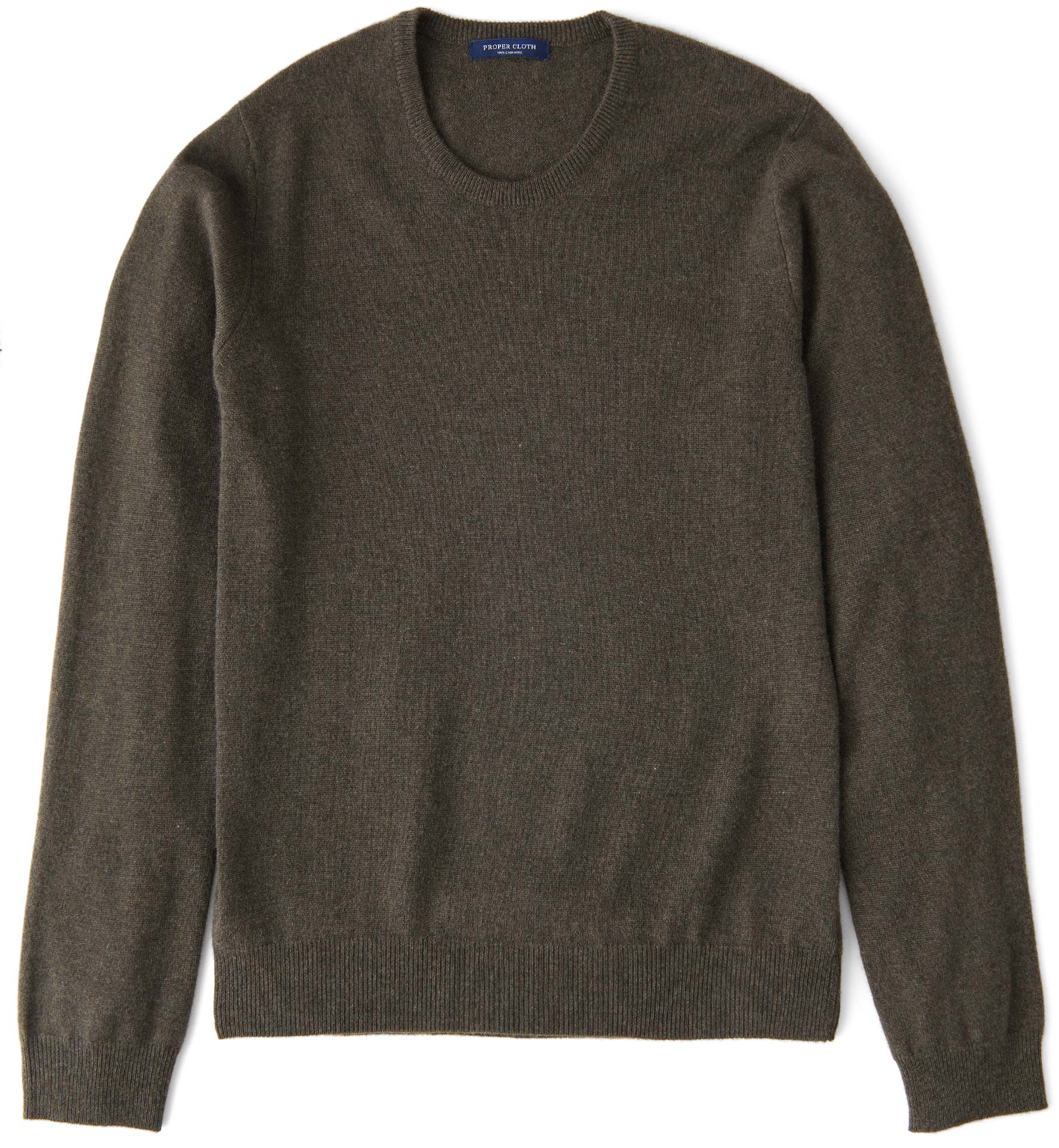 Zoom Image of Pine Cashmere Crewneck Sweater