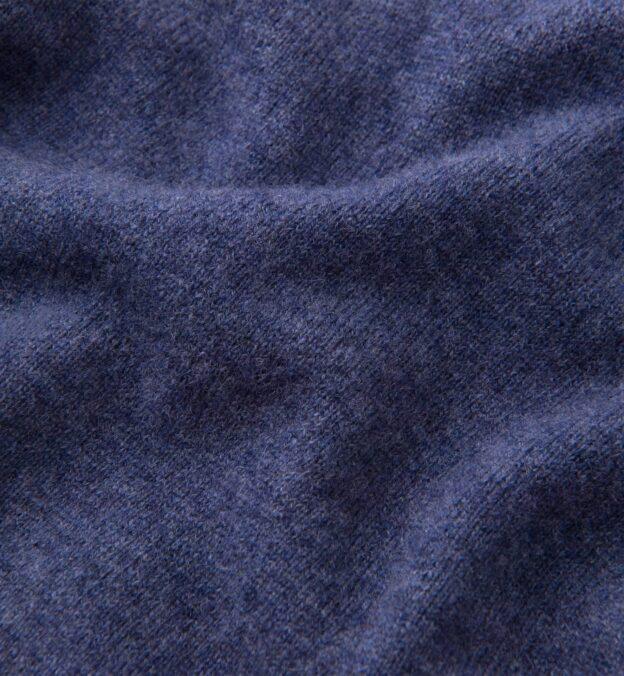 Slate Blue Cashmere V-Neck Sweater