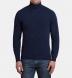 Zoom Thumb Image 2 of Navy Melange Cashmere Turtleneck Sweater