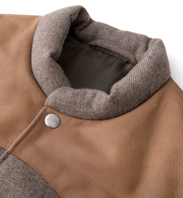 Jackson Taupe Wool and Cashmere Western Vest