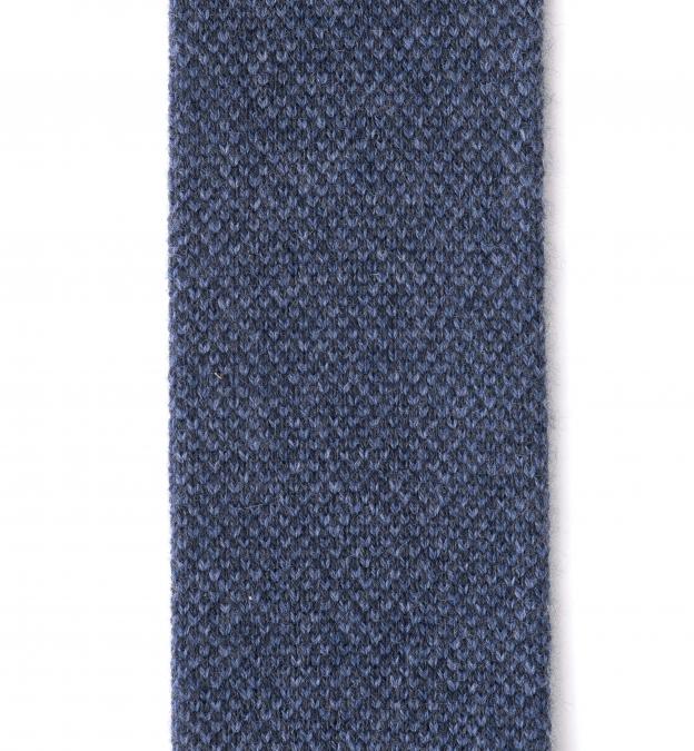 Slate Blue Cashmere Knit Tie