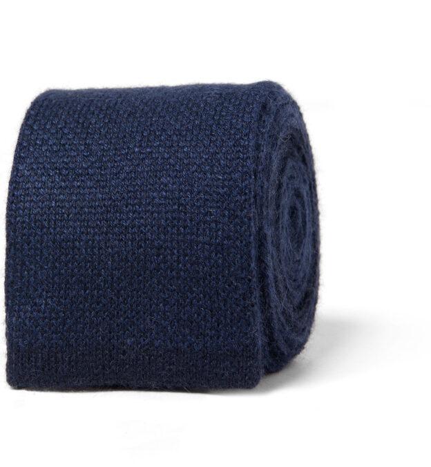 Navy Cashmere Knit Tie
