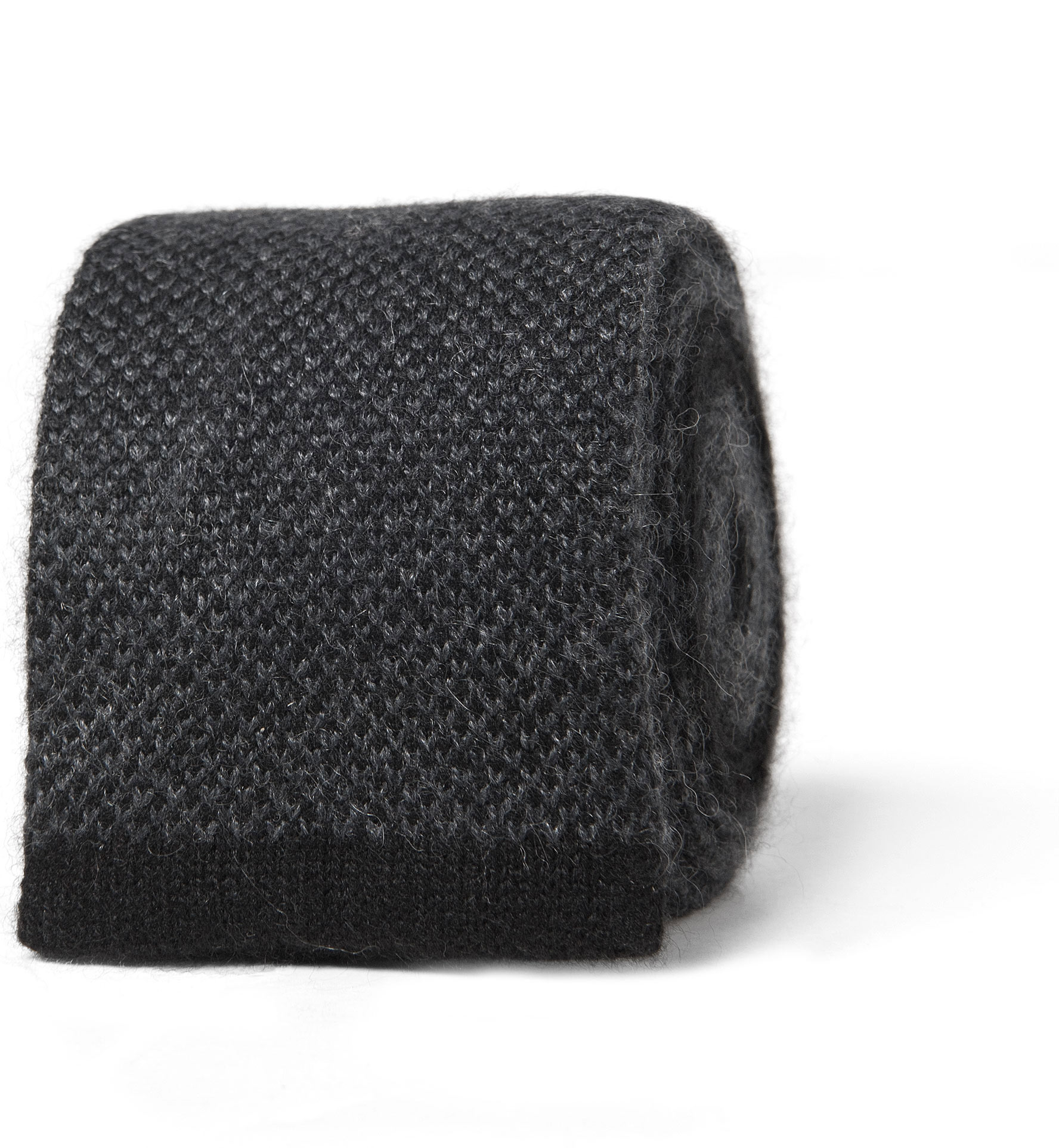 Zoom Image of Charcoal Cashmere Knit Tie