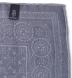 Grey Bandana Print Wool Pocket Square Product Thumbnail 2