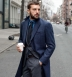 Bleecker Navy Wool and Cashmere Coat Product Thumbnail 3