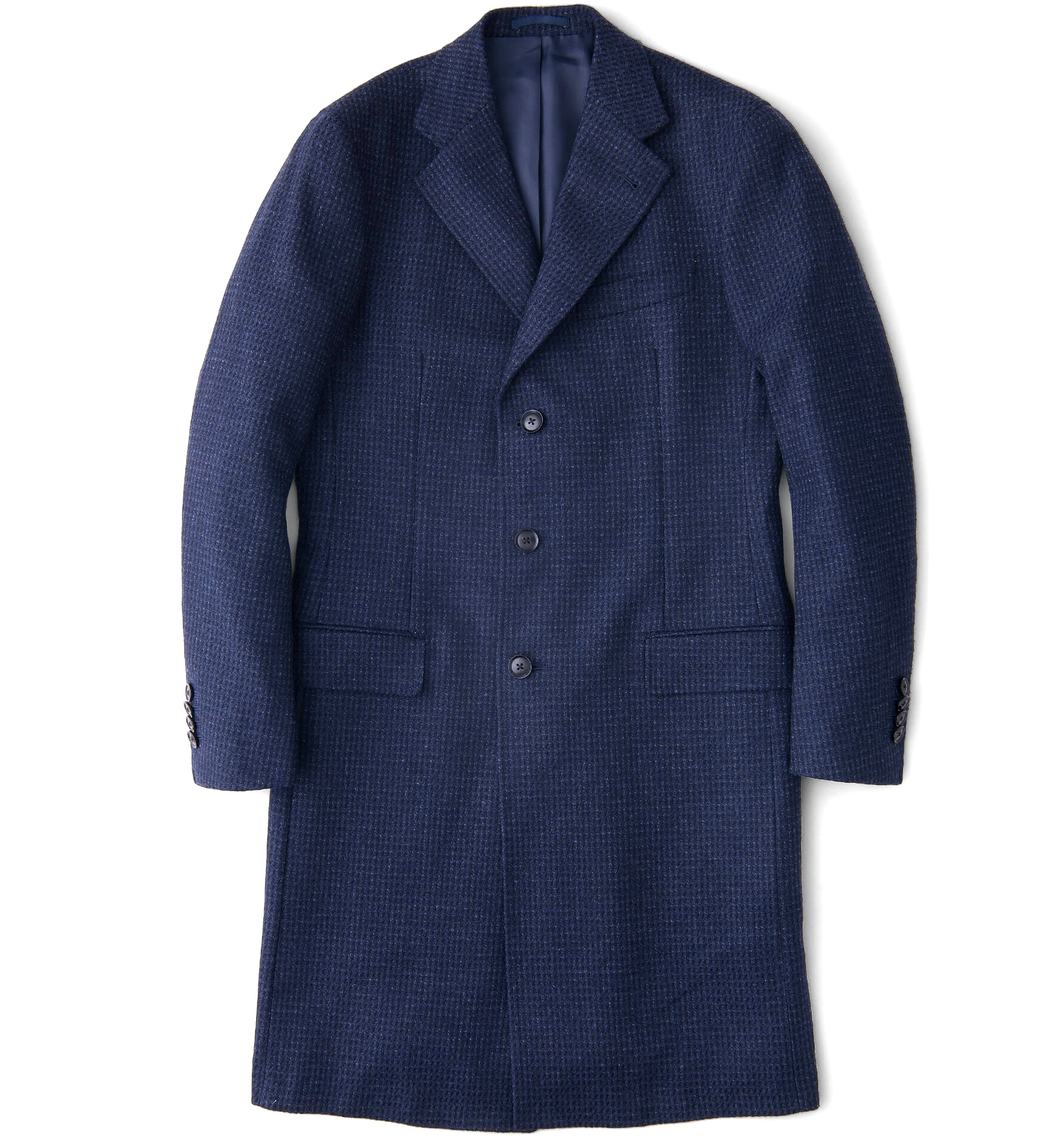 Zoom Image of Bleecker Navy Wool and Cashmere Coat