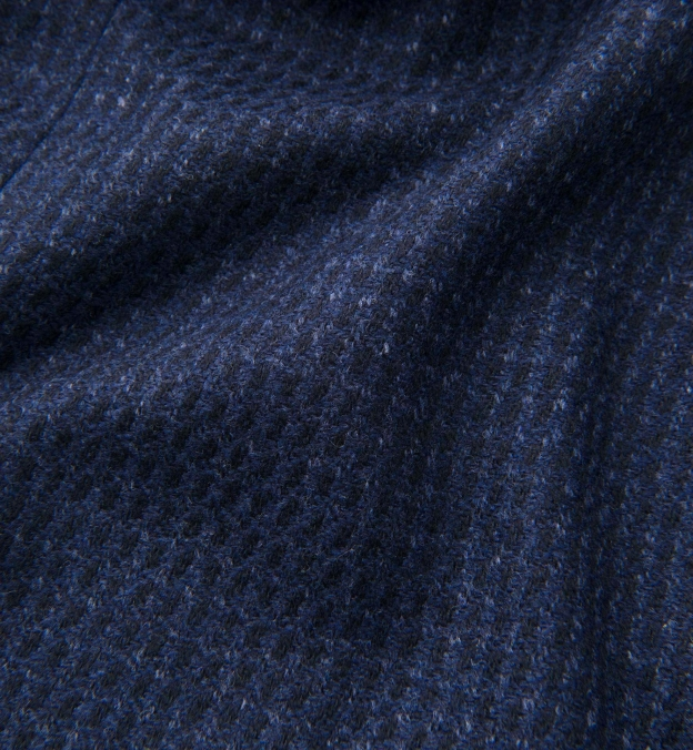 Bleecker Navy Wool and Cashmere Coat
