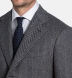 Bleecker Grey Herringbone Wool and Cashmere Coat Product Thumbnail 4