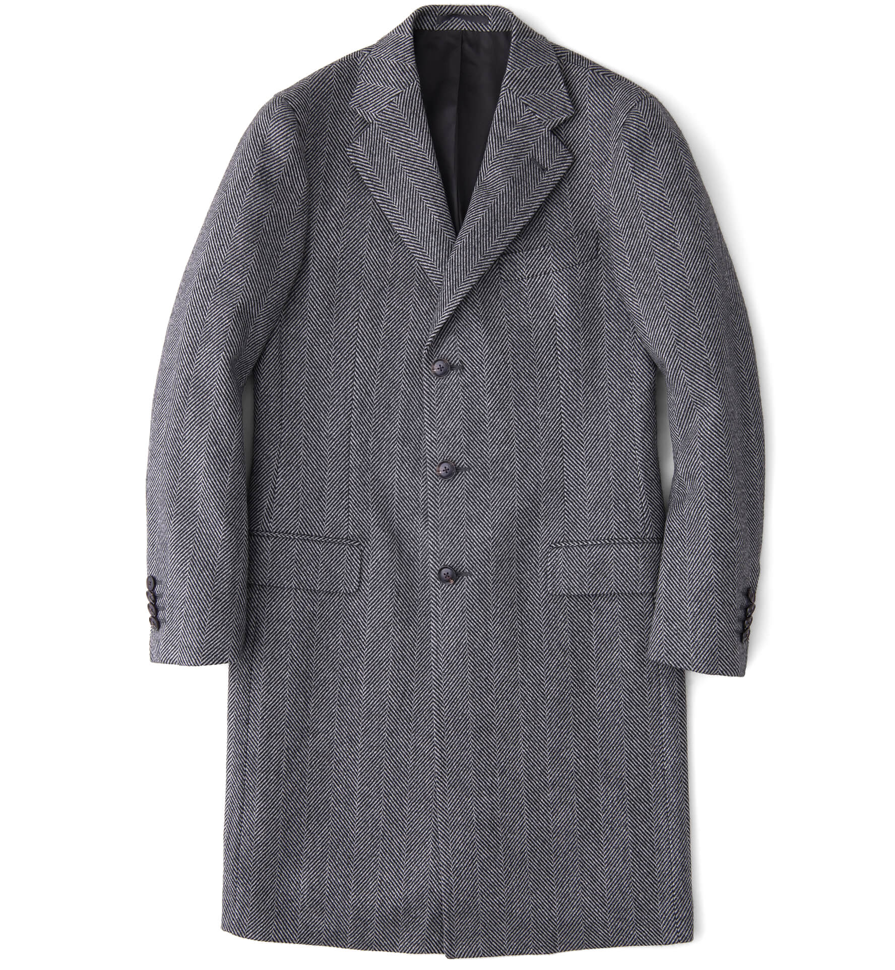 Zoom Image of Bleecker Grey Herringbone Wool and Cashmere Coat