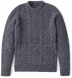 Grey Donegal Wool and Cashmere Aran Sweater Product Thumbnail 1