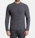 Grey Donegal Wool and Cashmere Aran Sweater Product Thumbnail 2