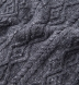 Grey Donegal Wool and Cashmere Aran Sweater Product Thumbnail 7