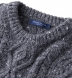 Grey Donegal Wool and Cashmere Aran Sweater Product Thumbnail 5