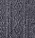 Grey Donegal Wool and Cashmere Aran Sweater Product Thumbnail 6