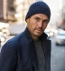 Light Navy Wool and Cashmere Italian Knit Hat Product Thumbnail 3