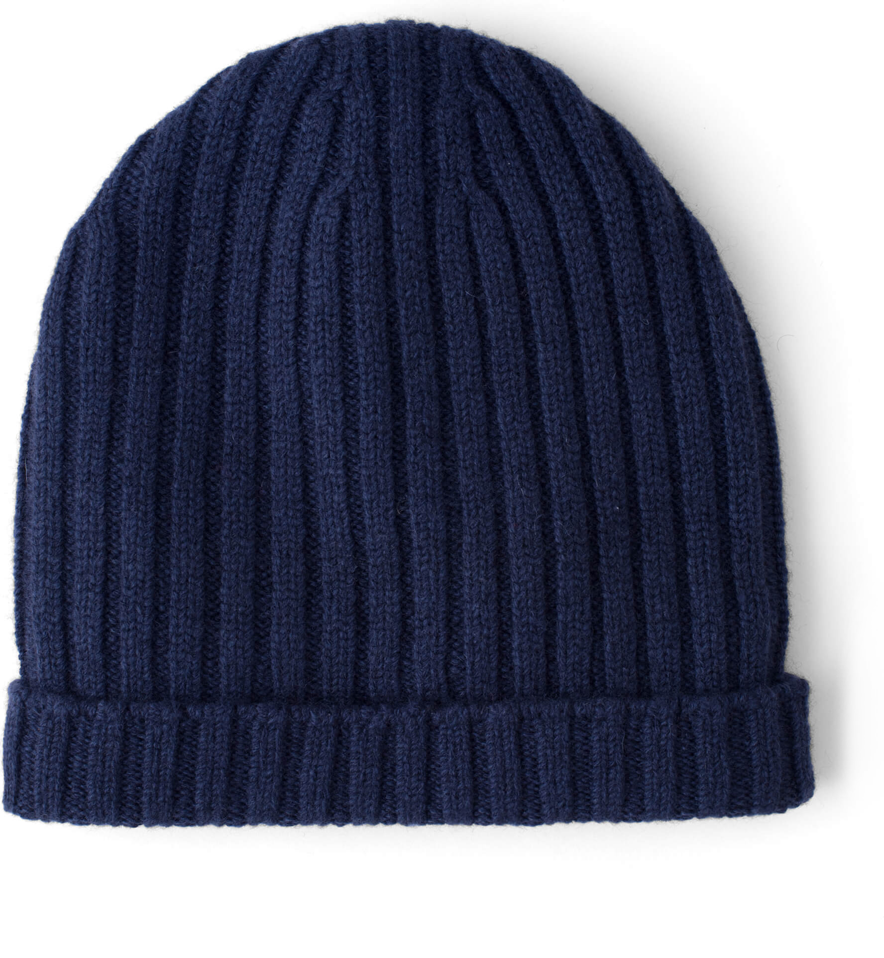 Zoom Image of Light Navy Wool and Cashmere Italian Knit Hat