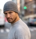 Grey Wool and Cashmere Italian Knit Hat Product Thumbnail 3