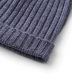 Grey Wool and Cashmere Italian Knit Hat Product Thumbnail 2
