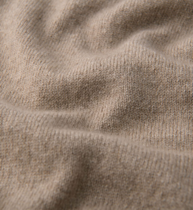 Natural Taupe Cashmere Half Zip