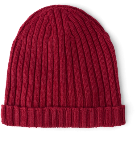 Red Wool and Cashmere Italian Knit Hat by Proper Cloth db22bc93f7c