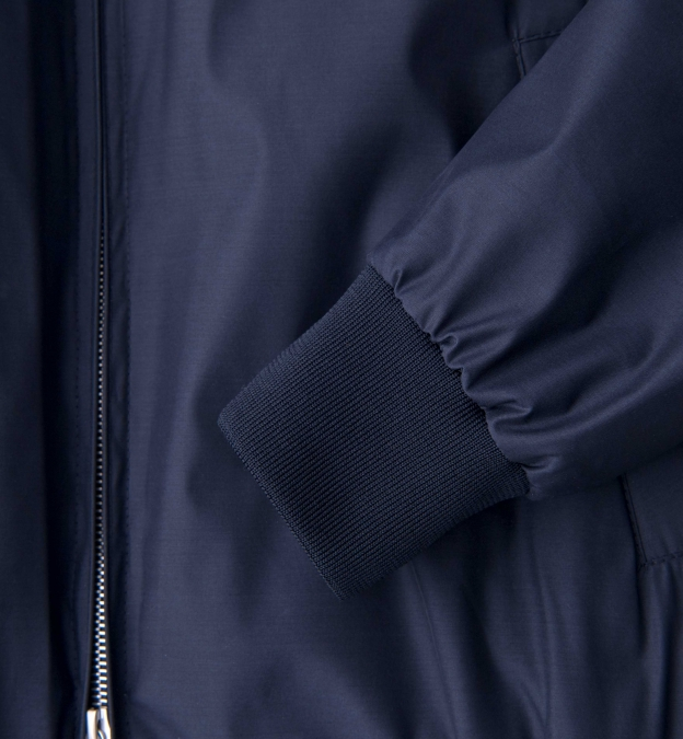 Lucca Navy Wool and Silk Performance Jacket