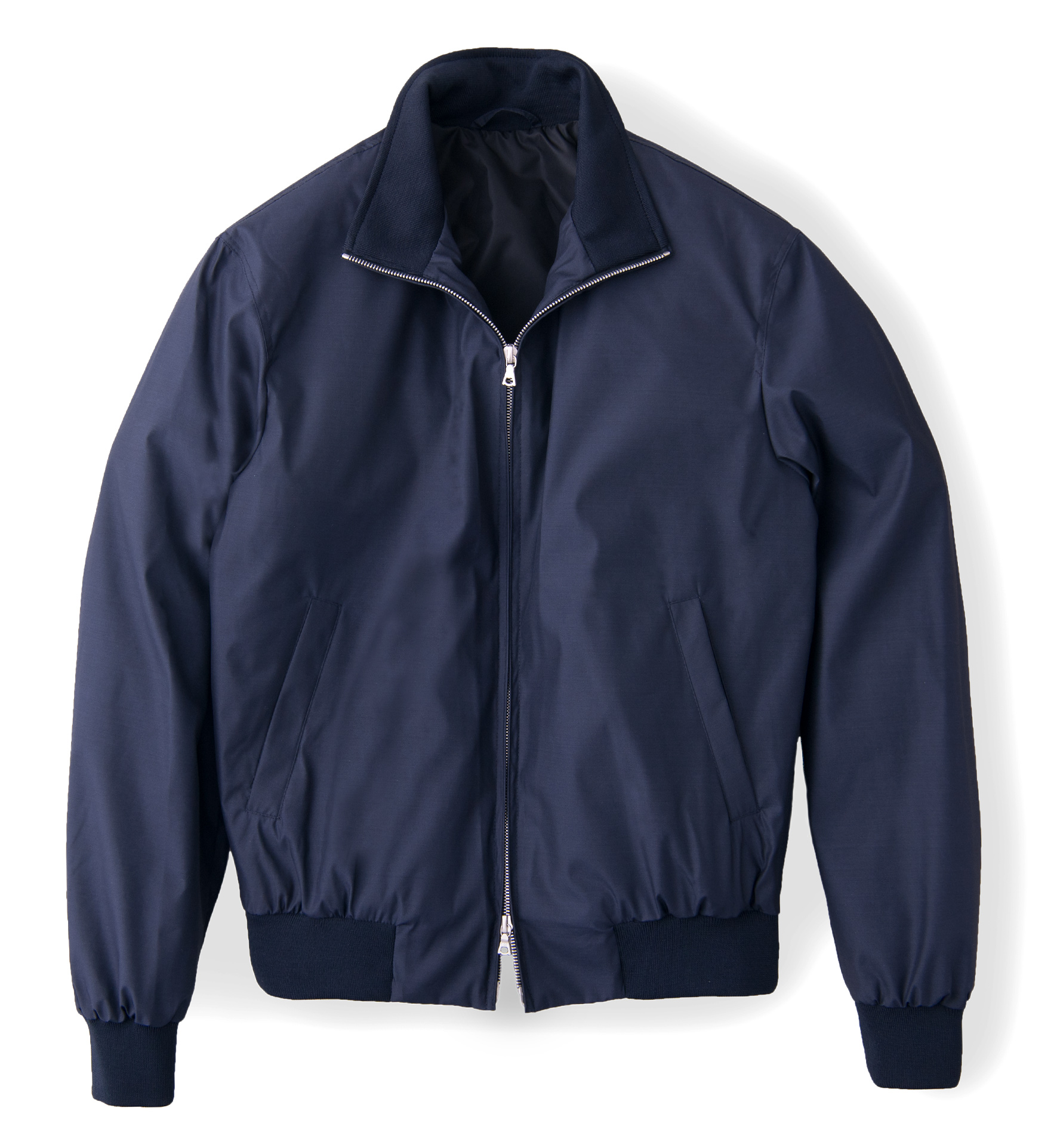 Zoom Image of Lucca Navy Wool and Silk Performance Jacket