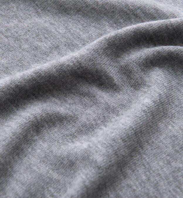 Light Grey Melange Merino Crewneck Sweater