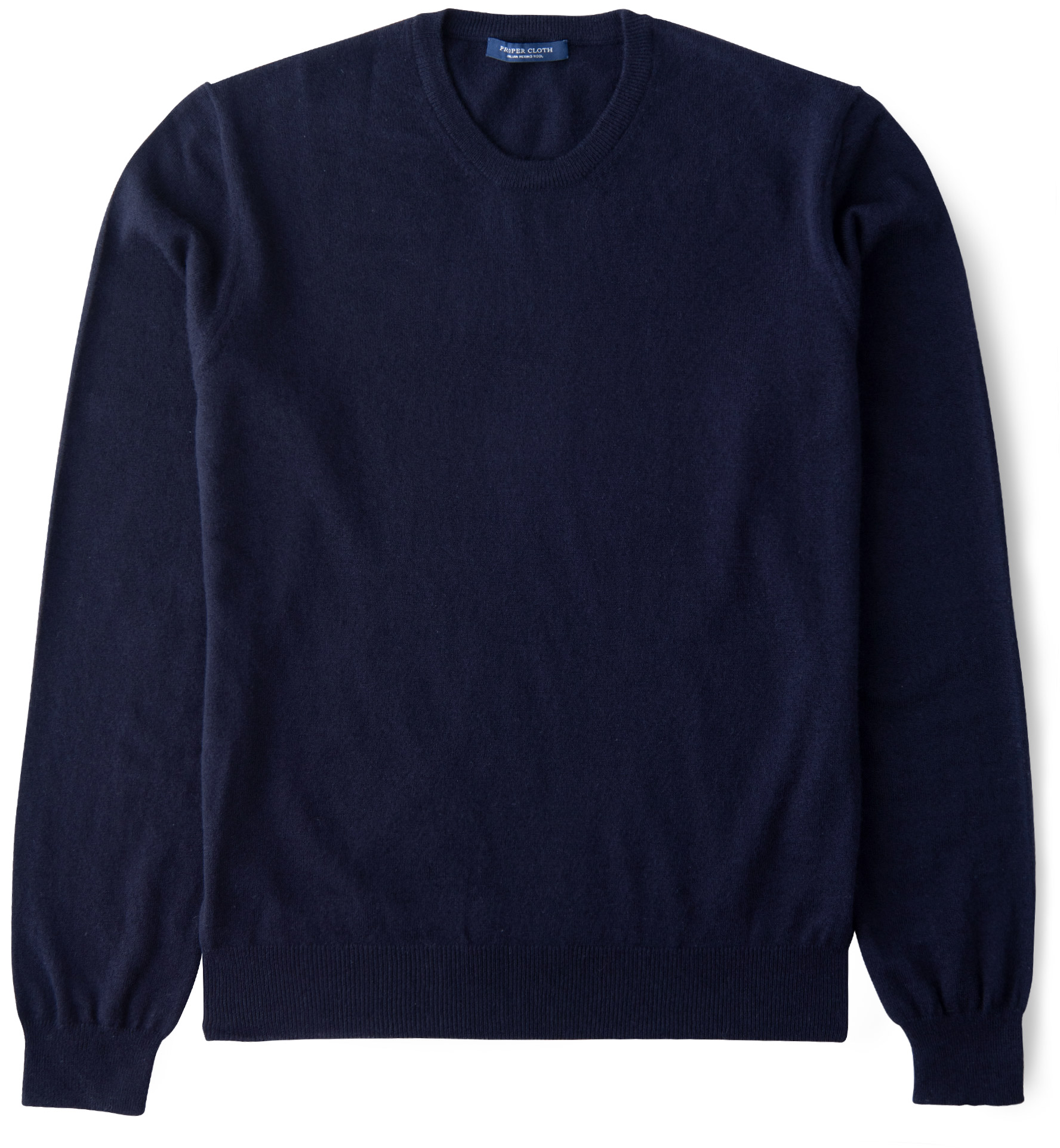 Zoom Image of Navy Merino Crewneck Sweater