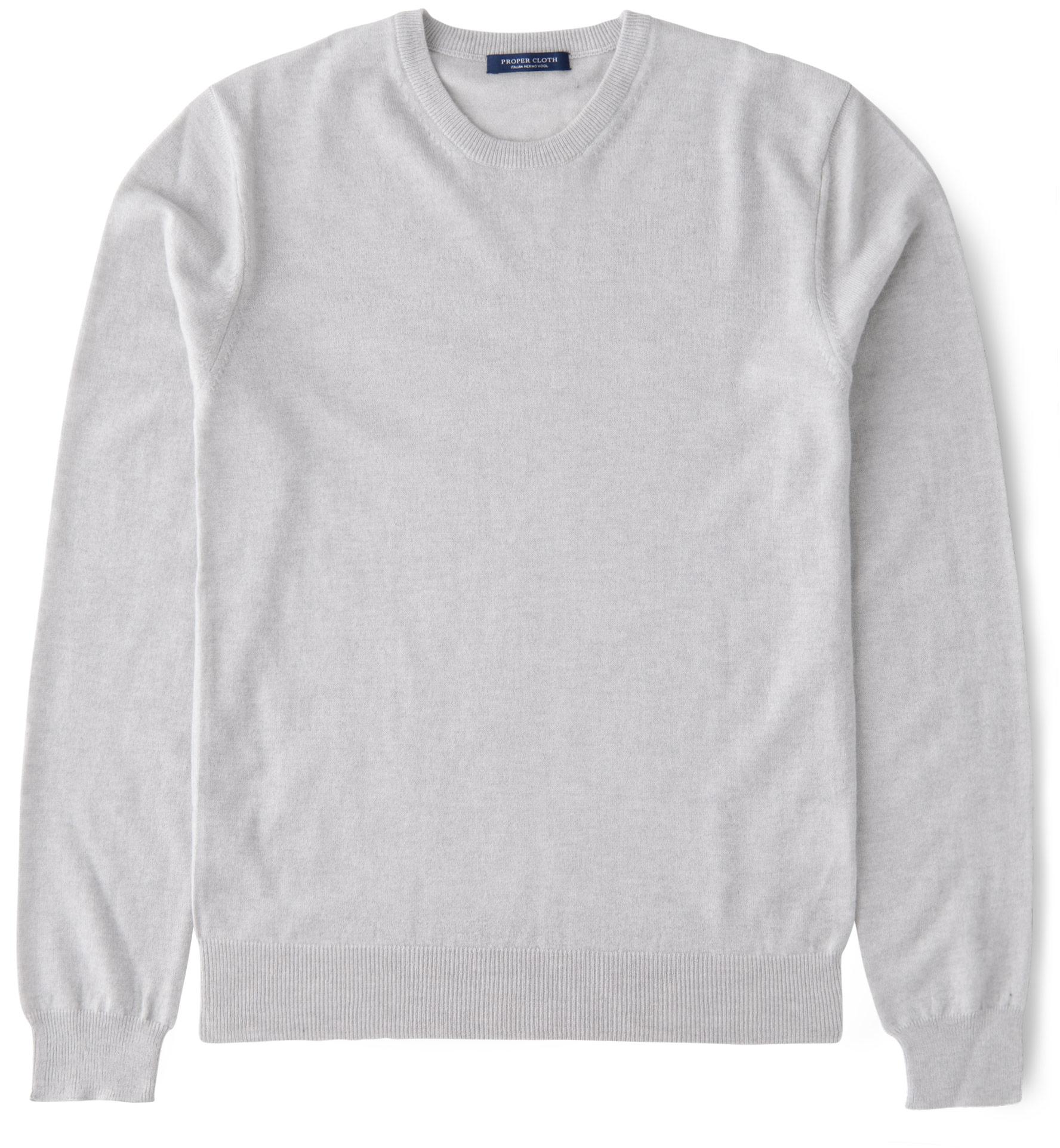 Zoom Image of Natural Melange Merino Crewneck Sweater