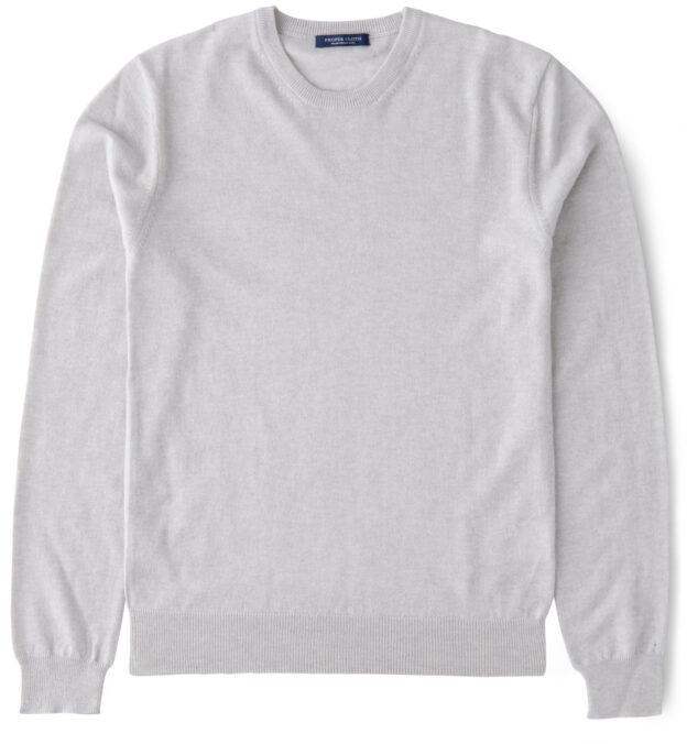 Natural Melange Merino Crewneck Sweater