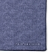 Zoom Thumb Image 1 of Navy Tipped Tonal Cotton and Linen Pocket Square