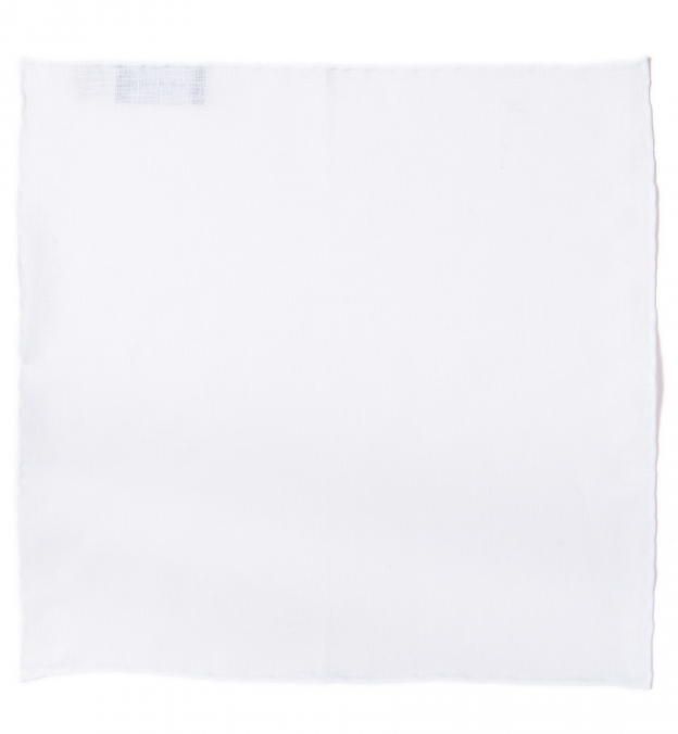 Essential White Linen Pocket Square