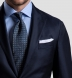 Essential White Linen Pocket Square Product Thumbnail 4