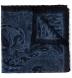Zoom Thumb Image 1 of Navy Paisley Gauze Wool Pocket Square