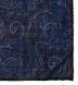 Navy and Brown Paisley Gauze Wool Pocket Square Product Thumbnail 2