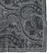 Grey Paisley Gauze Wool Pocket Square Product Thumbnail 2
