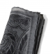 Grey Paisley Gauze Wool Pocket Square Product Thumbnail 3